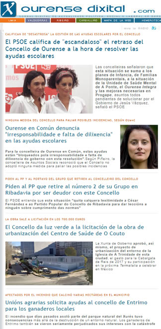 Ourense Dixital Com El Presidente De La Xunta Inaugura El Curso