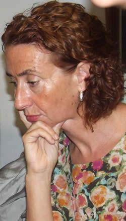 Ana Garza el pasado viernes, 17, cuando García Mata anunció su dimisión en todos los cargos del Concello de Ourense - 20_03